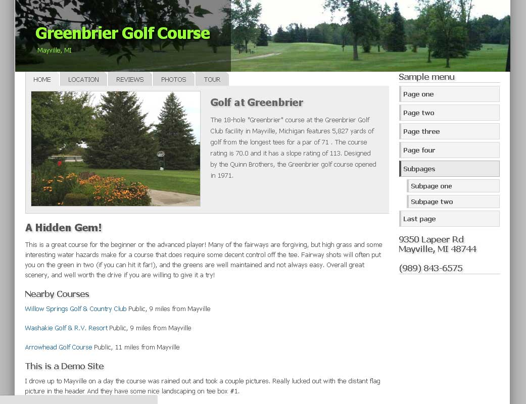 Greenbriar Golf Club